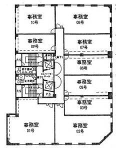 ファースト船場ビル基準階間取り図