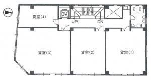 中塚ビル基準階間取り図