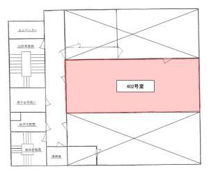 大阪戸上ビル4階間取り図
