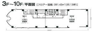 ヨシカワビル基準階間取り図