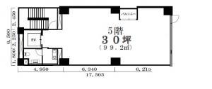 イデア御堂筋(IDE-A MIDOSUJI)ビル基準階間取り図