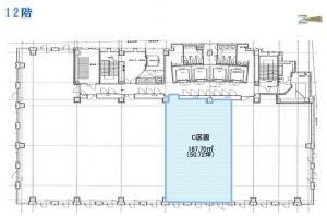 御堂筋MTRビル12階間取り図