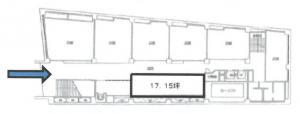 梅田セントラルビル地下2階間取り図