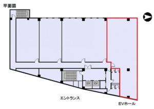 メッセージ梅田ビル7階間取り図
