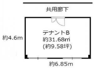 大写ビル7階間取り図