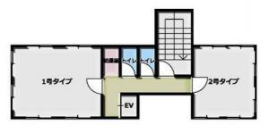 新町パークビル基準階間取り図