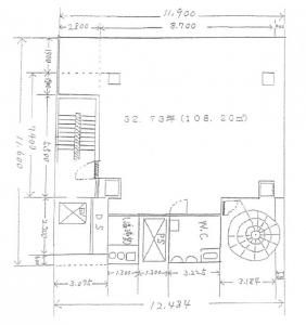 曽根崎東ビル基準階間取り図