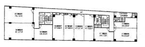 新大阪駅前東口ステーションビル基準階間取り図