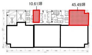 堂島アクシスビル5階間取り図
