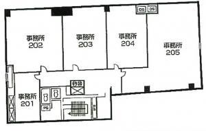 F+BASEbruno(エフベースブルーノ)2階間取り図