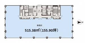 大阪堂島ビル基準階間取り図
