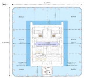 グランフロント大阪 タワーA基準階間取り図