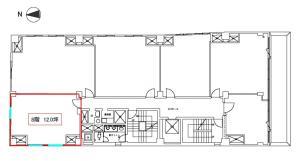 与力町パークビル8階間取り図