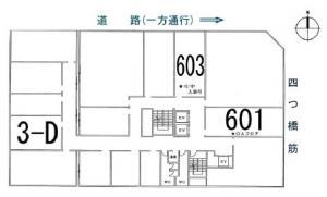 四ツ橋新興産ビル基準階間取り図