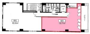 大和本町ビル6階間取り図