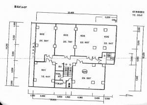 サンアール堂北ビル6階間取り図