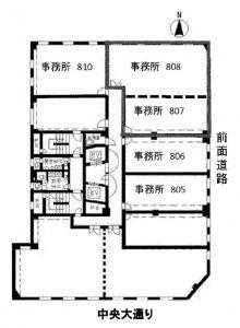 ファースト船場ビル807号室間取り図