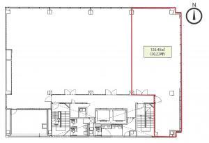 MID西本町ビル8階間取り図