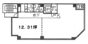 本町ギボービル3階間取り図