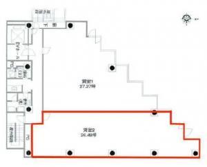 サムティ本町グランドビル2階間取り図