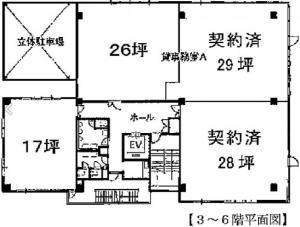 江坂石周ビル基準階間取り図