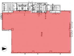 関電不動産高麗橋ビル基準階間取り図