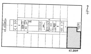 大阪駅前第4ビル15階間取り図