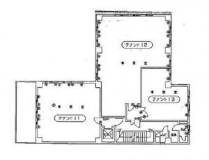 トウマビル基準階間取り図