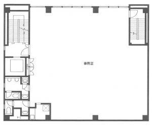 上本町KFビル基準階間取り図