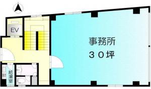交徳ビル401号室間取り図