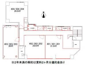 RE-011ビル基準階間取り図
