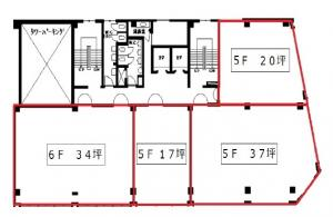 大協シャトービル5階間取り図