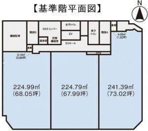 Daiwa南船場ビル基準階間取り図