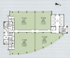 江戸堀センタービル3~7階間取り図