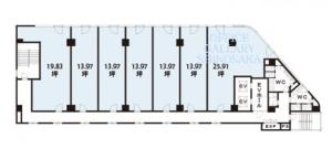 NLCセントラルビル基準階間取り図