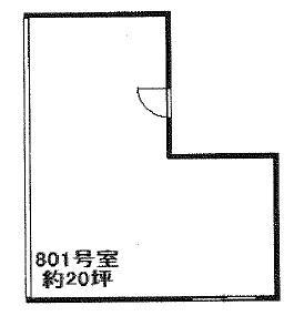 リバーボール江坂ビル8階間取り図