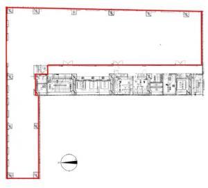 ランズ瓦町ビルディング基準階間取り図