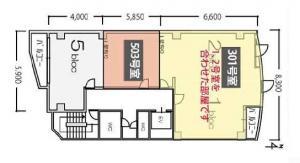 TMG阿波座ビル基準階間取り図