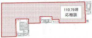 谷口悦第2ビル基準階間取り図