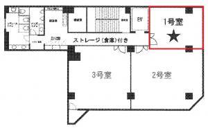 ニシモトビル1号室間取り図