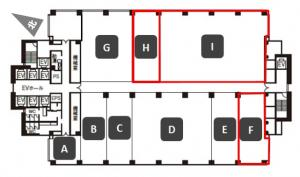 コスモプラザビル4階間取り図