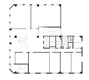 NLC新大阪18号館ビル基準階間取り図
