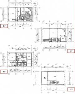 富山産業ビル基準階間取り図