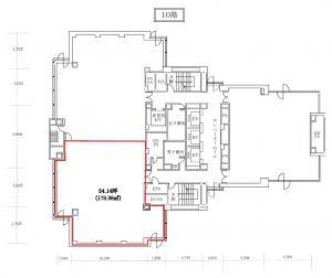リゾートトラスト御堂筋ビル10階間取り図