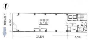 堺筋ビル基準階間取り図