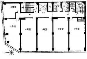 大和上六ビル基準階間取り図