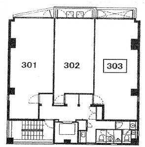 T3 SHINSAIBASHIビル3階間取り図