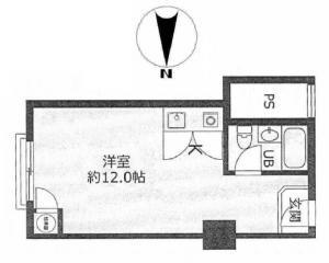 フルーレ新大阪ビル4号室間取り図