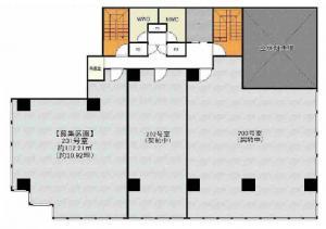 京町堀センタービル2階間取り図