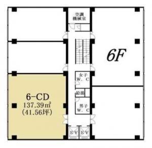 アクセス谷町ビル6階間取り図